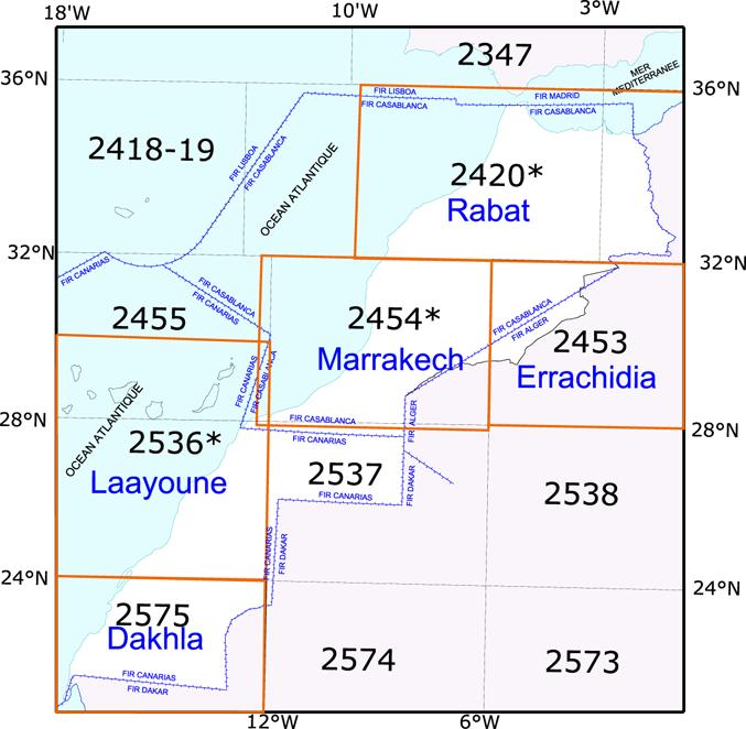 Morocco VFR maps